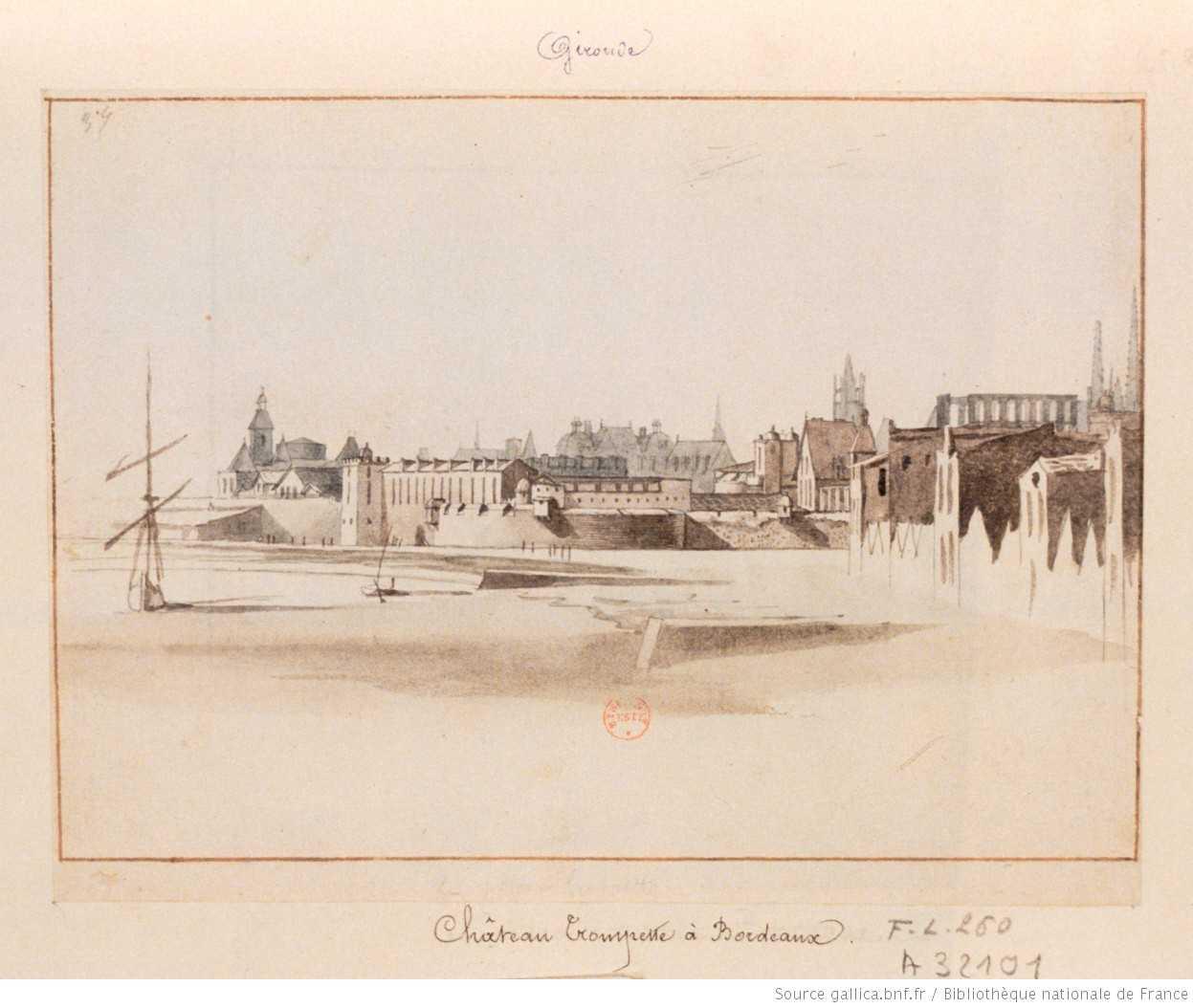 Château Trompette vue du bord de Garonne en 1619