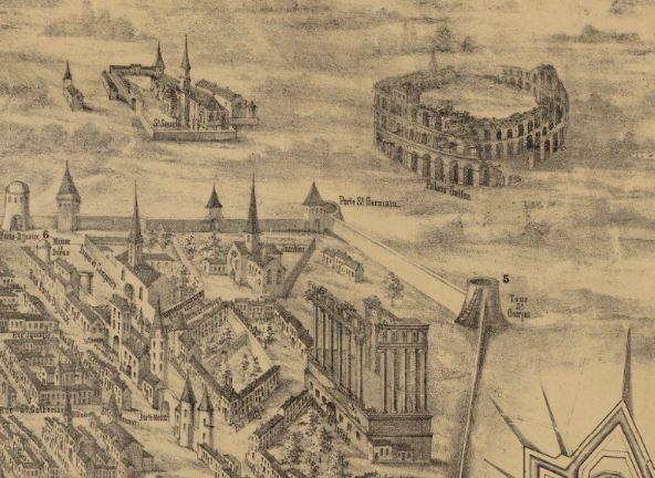 Plan de bordeaux 1550 - Saint Seurin