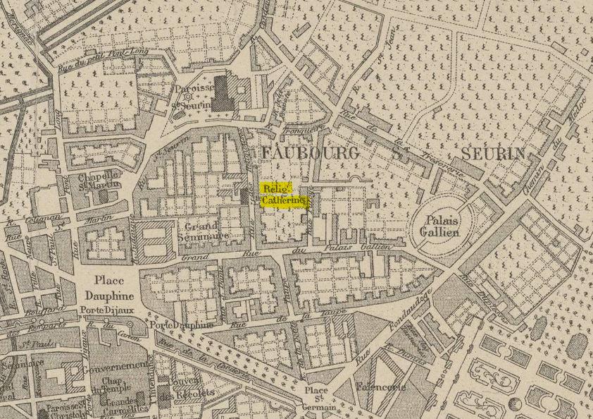 Bordeaux et saint-suerin  sous Louis XVI indiquant l'état de la ville après les grands travaux des Intendants - Camille Julian