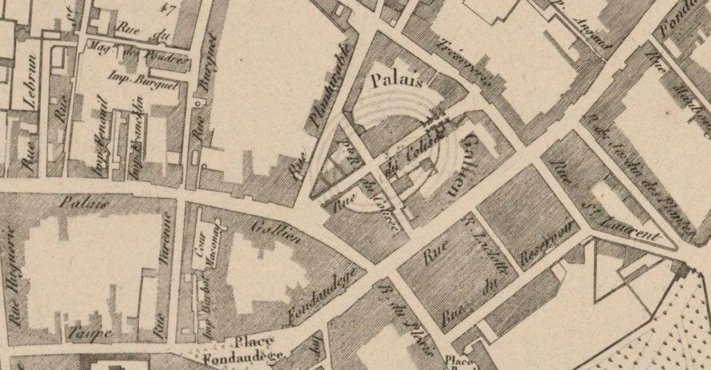 Cadastre Fondaudège et Palais Gallien