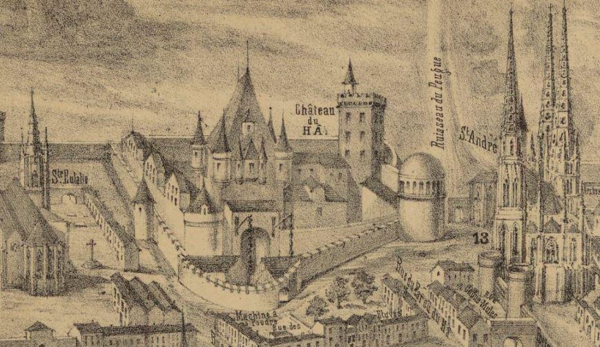 plan de bordaeux et fort du ha 1550