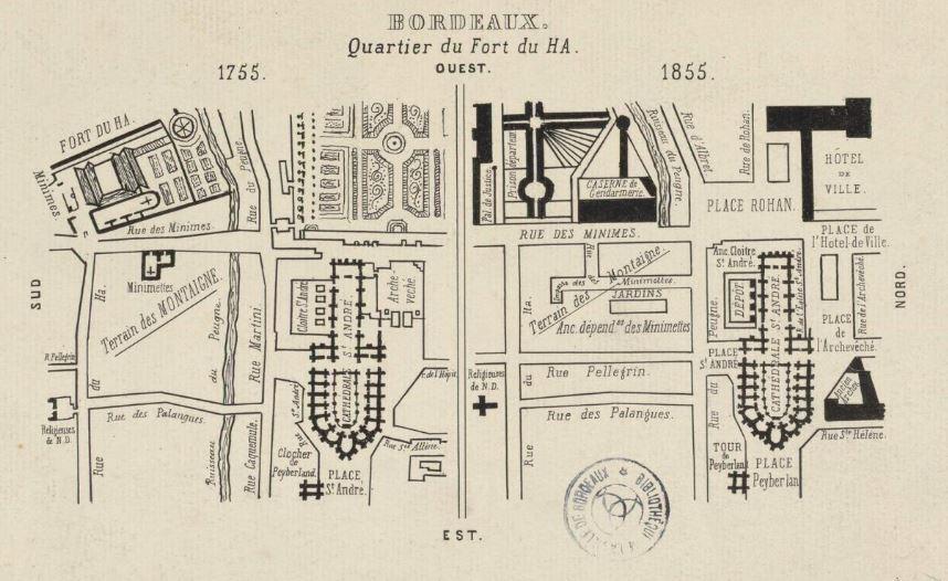 plan du quartier peuu berland 1755 1855