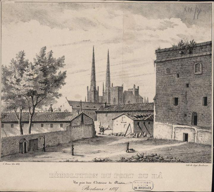 Déomlition du pont du fort du hâ en 1838